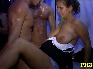 Sucking and fucking at party