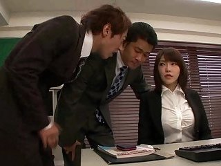 Japanese in pantyhose office sex