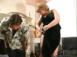 Plumper Granny Fucked At Home