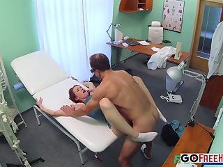 Horny Sexy Slim Patient Wants Doctors Cock