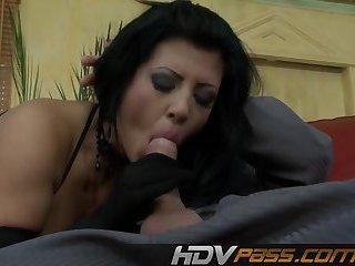 Big Tits Brunette Amanda  Threesome Fuck