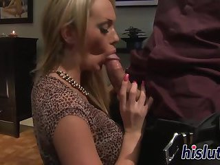 Hot blonde has her booty licked