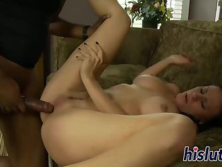 Busty babe gets pounded rough